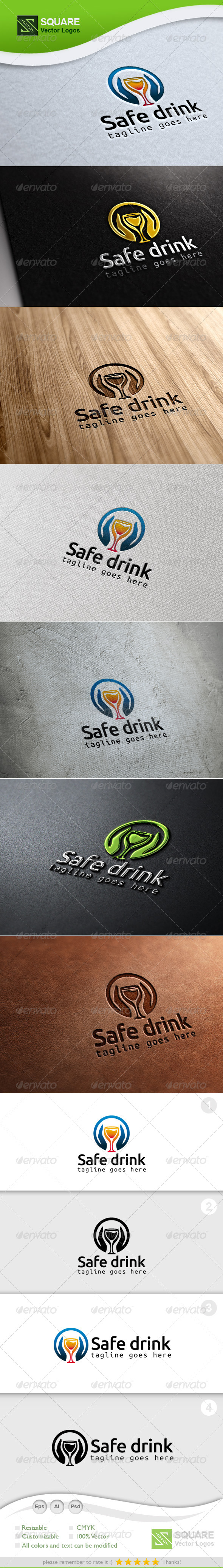 Hands, Drink Glass Logo Template - Symbols Logo Templates