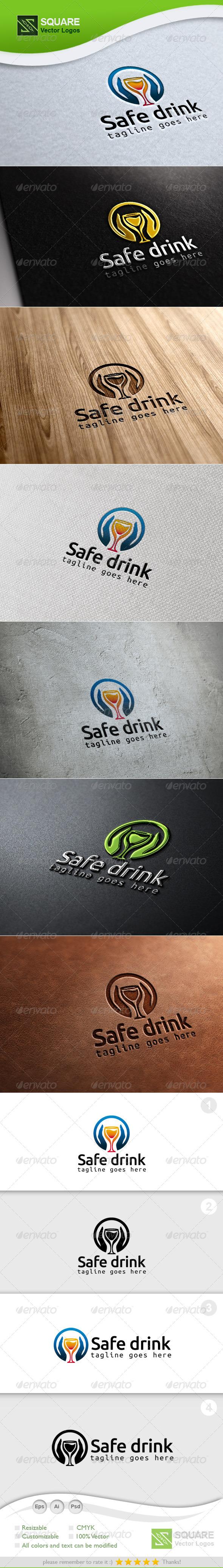 Hands, Drink Glass Logo Template - Symbols Logo Templates