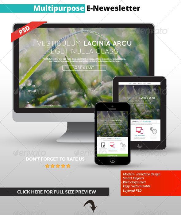 Multipurpose E-Mail Template 03 - E-newsletters Web Elements