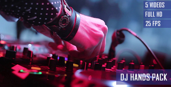 nightclub dj hands close up 5 pack by stockhunter videohive