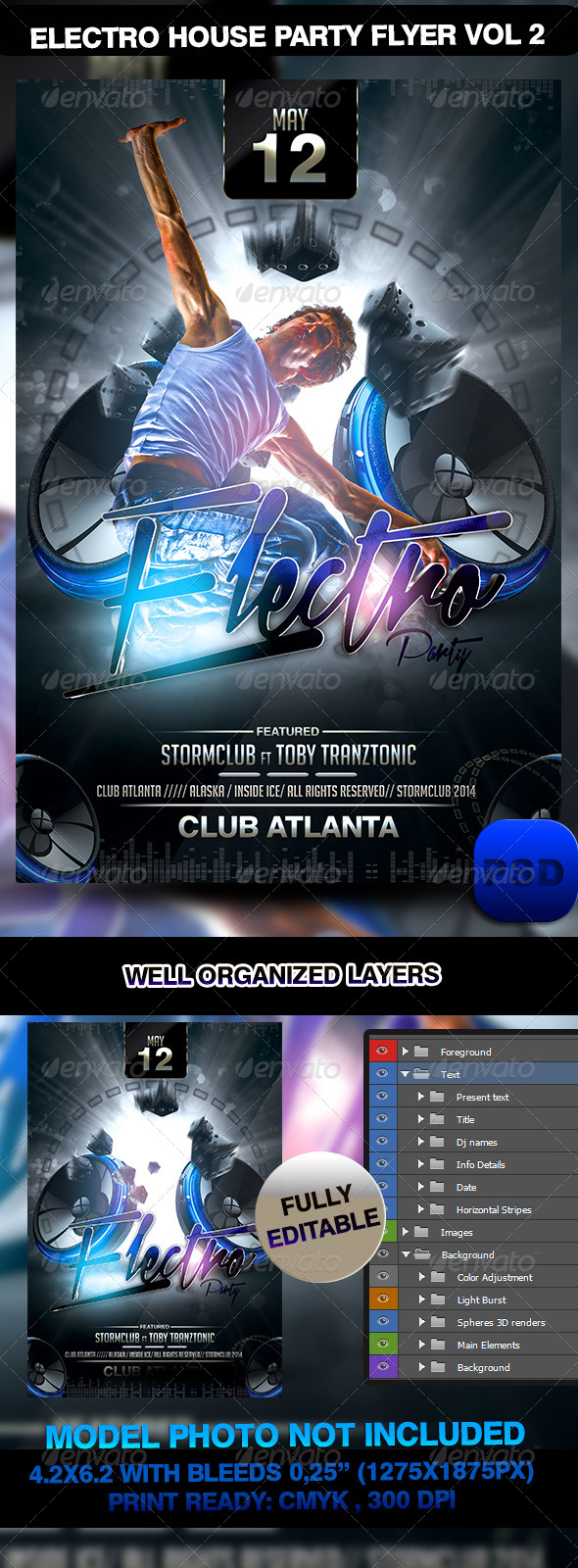 Electro House Party Flyer Vol 2 - Events Flyers