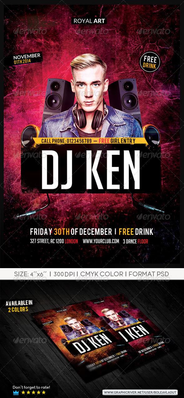 Flyer Dj Night - Clubs & Parties Events