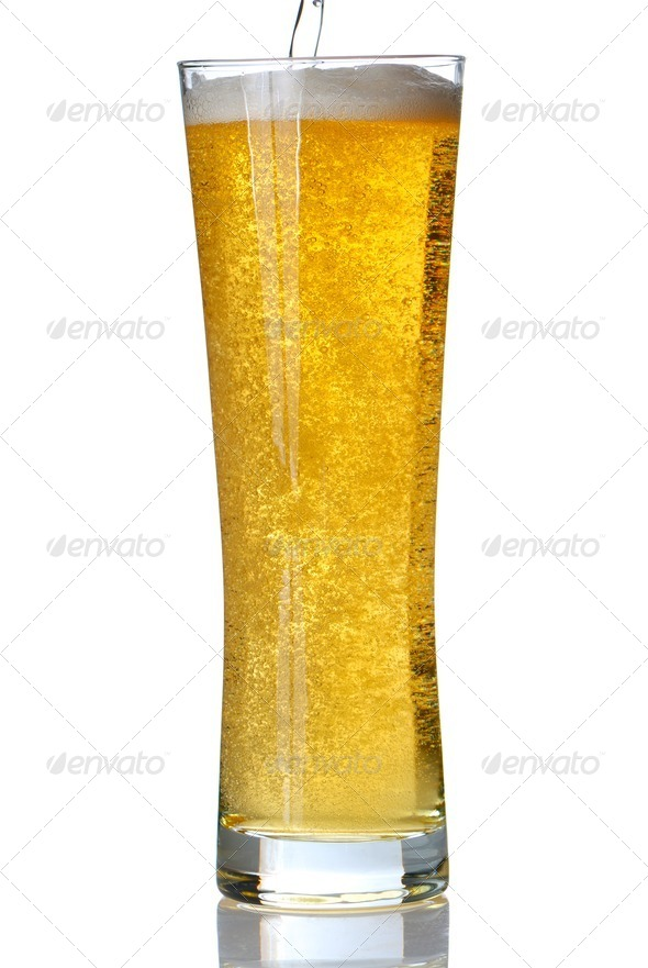 Pouring beer - Stock Photo - Images