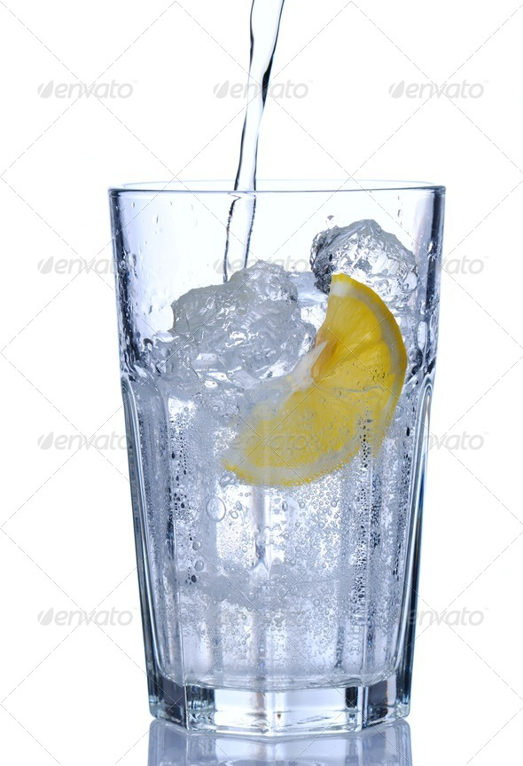 Water glass - Stock Photo - Images