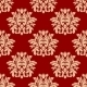 Red Damask Style Arabesque Pattern - GraphicRiver Item for Sale