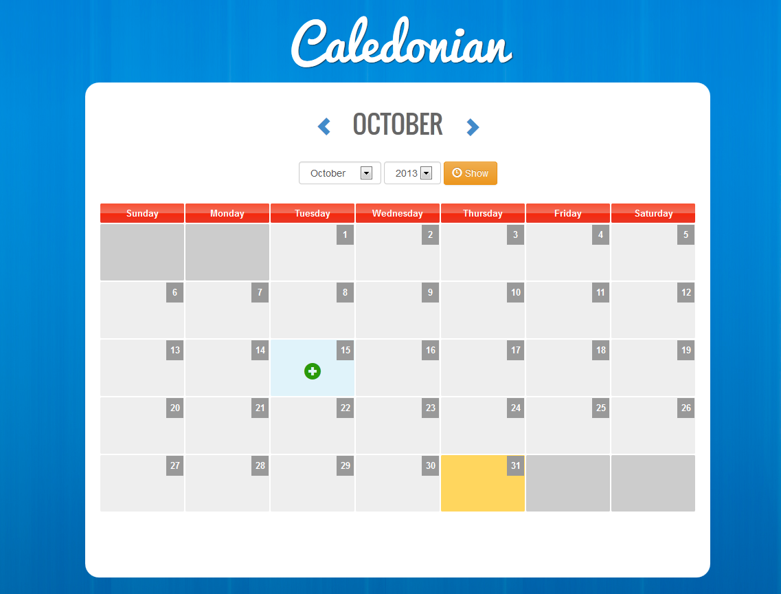 Caledonian PHP Event Calendar by thunderfury | CodeCanyon