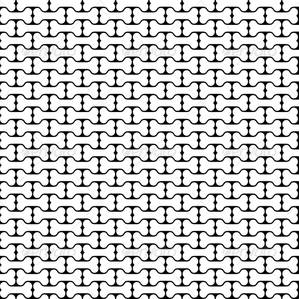 Bone Black and White Seamless Pattern - Patterns Decorative