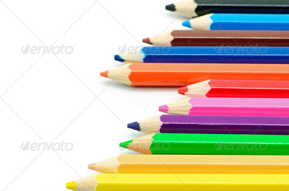 colored pencil - Stock Photo - Images