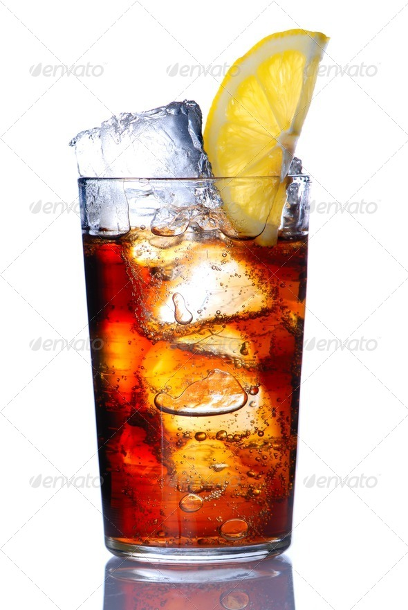 Glass with cola - Stock Photo - Images