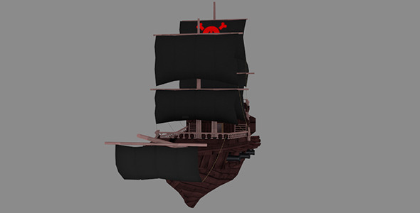 Medium Detail Pirate Ship - 3DOcean Item for Sale