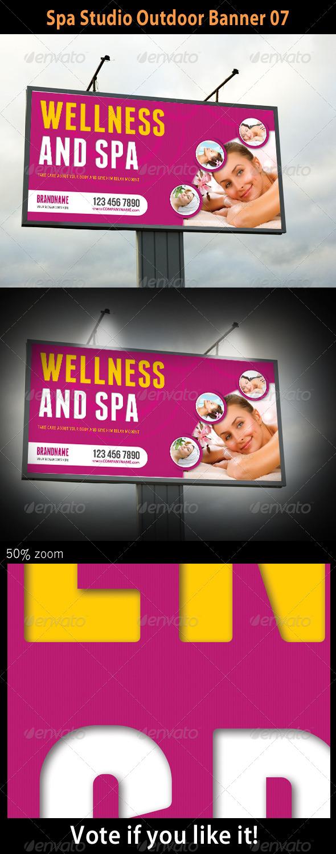 Spa Studio Outdoor Banner 07 - Signage Print Templates
