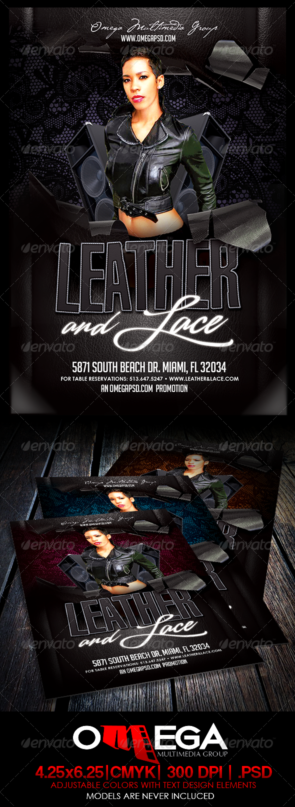 Leather and Lace  - Events Flyers