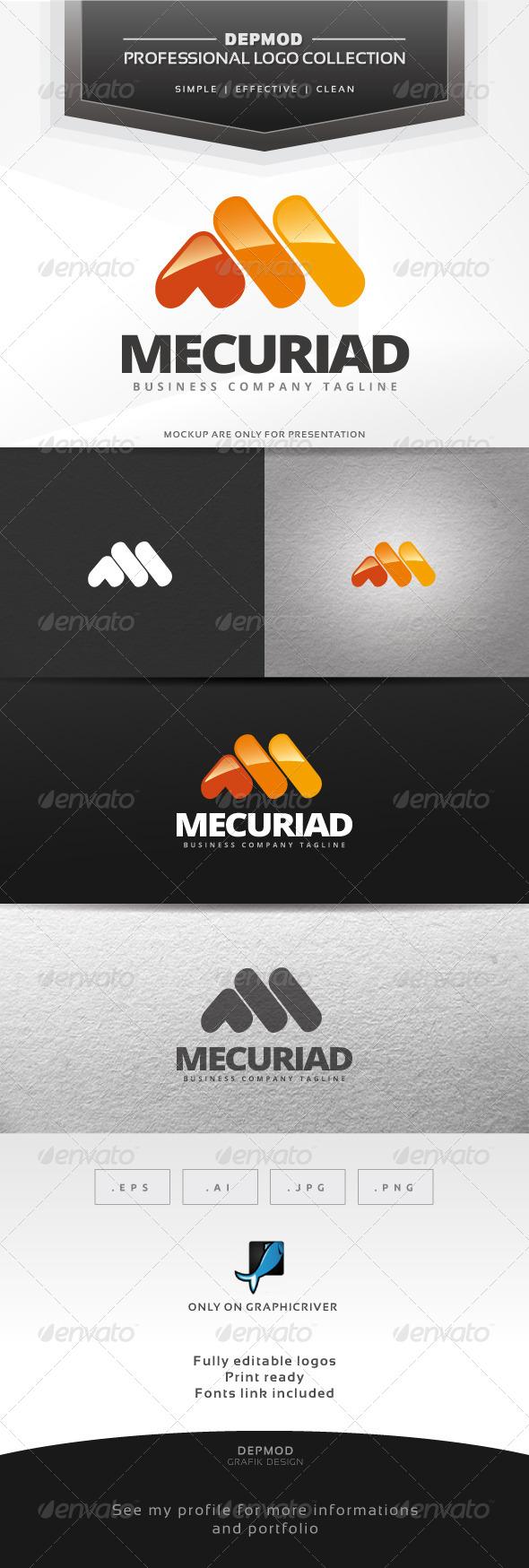 Mercuriad Logo - Letters Logo Templates