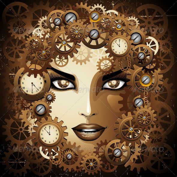 Steampunk Girl Portrait  - People Characters