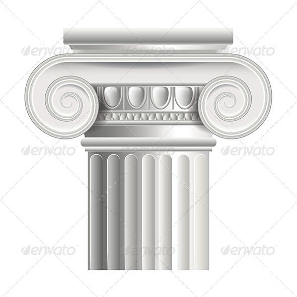 Roman or Greek Column - Buildings Objects