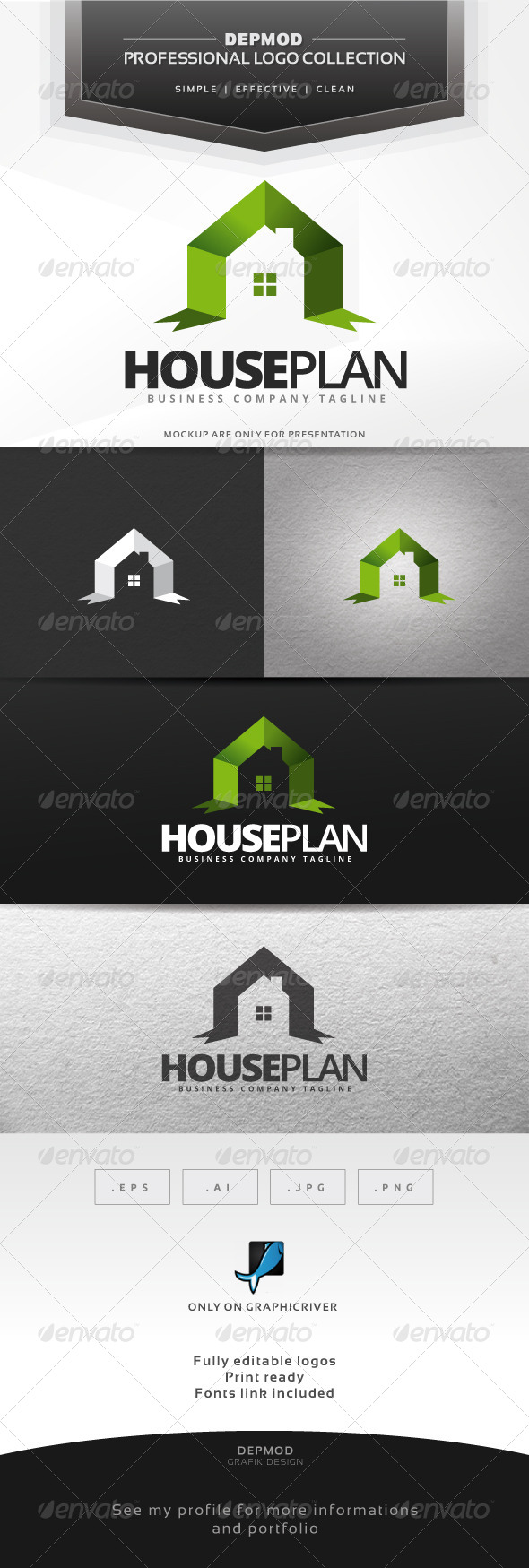 House Plan Logo by Opaq