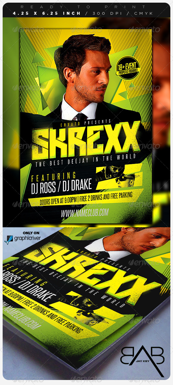 DJ Event Music Flyer - Events Flyers