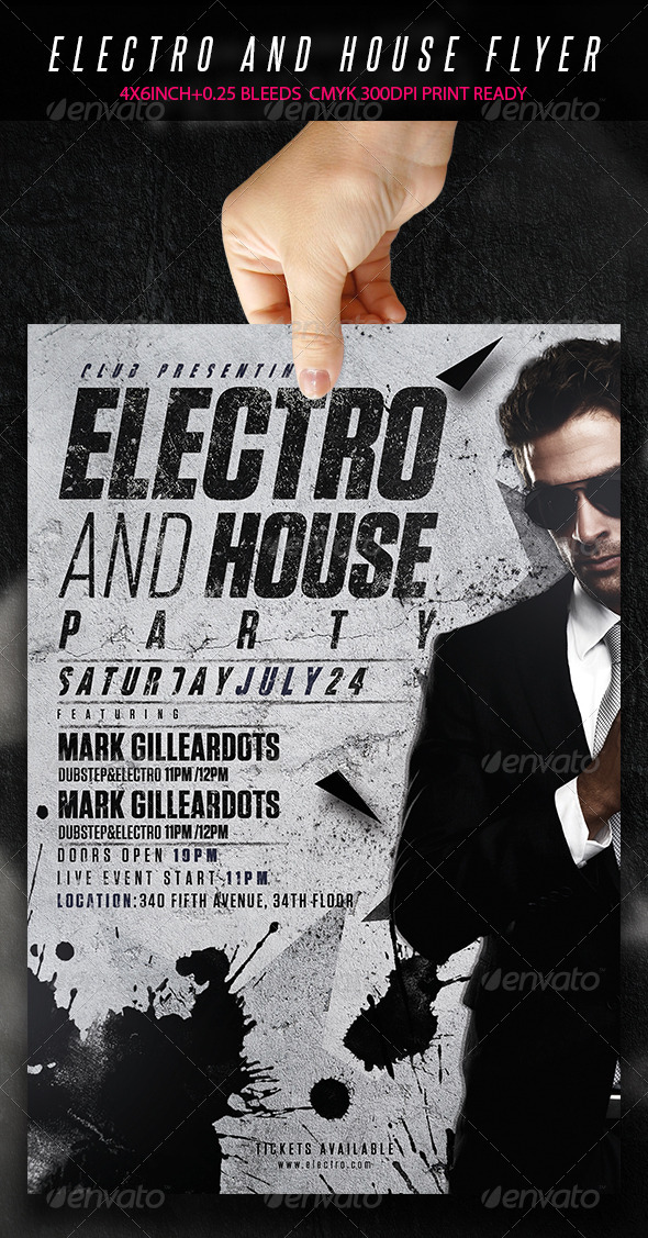 Electro And House Party - Flyer  - Clubs & Parties Events