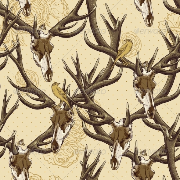 Deer Skull Pattern - Patterns Decorative