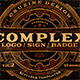 Complex Logos/Signs/Badges v.2 - GraphicRiver Item for Sale