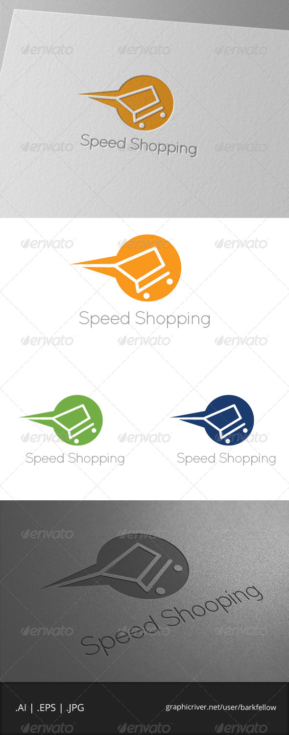 Speed Shopping Logo Template - Symbols Logo Templates