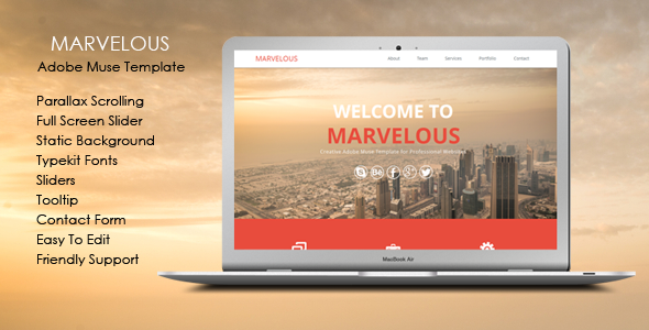 Marvelous – Multi-purpose Muse Template