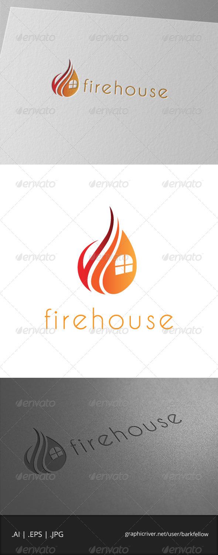 Fire House Logo Template - Symbols Logo Templates