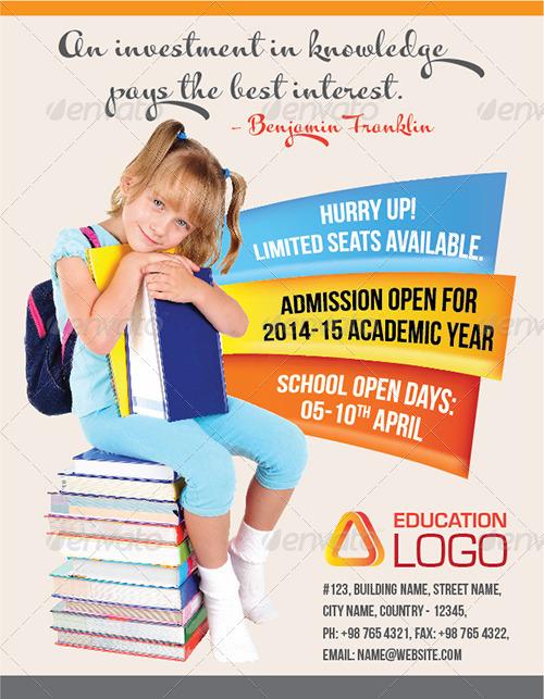 Junior School Education Flyer by GraphiteMedia | GraphicRiver