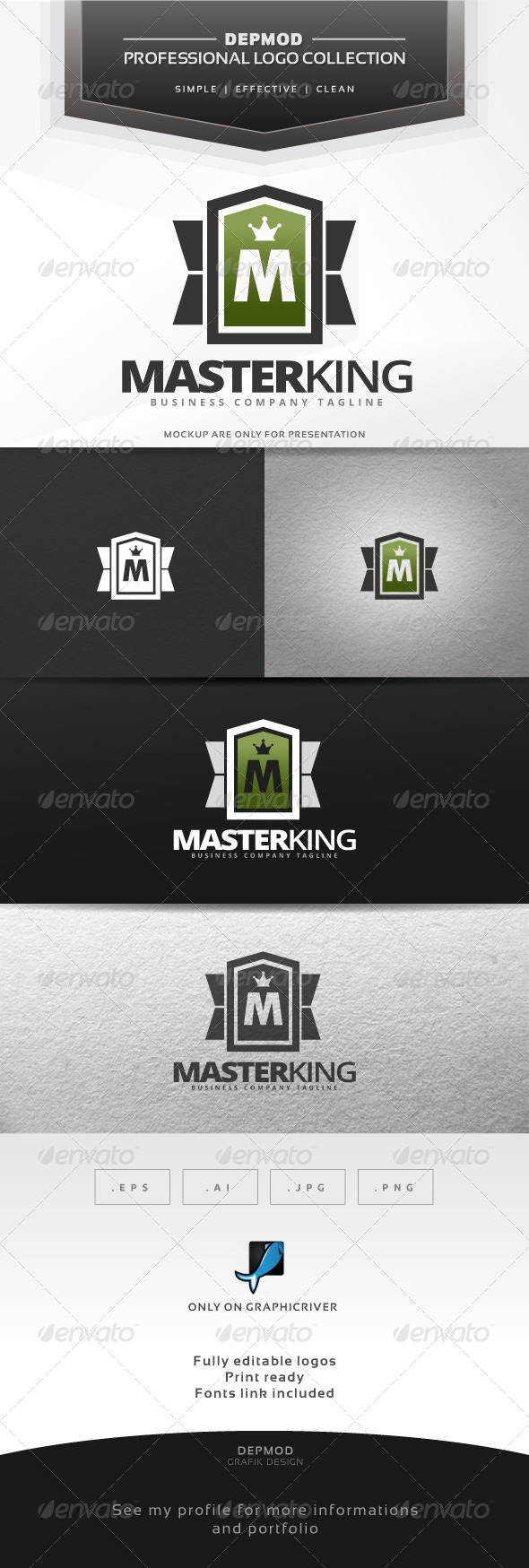 Master King Logo - Letters Logo Templates