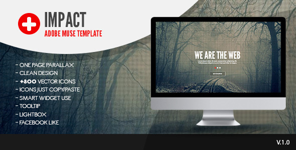 Impact | One Page Muse Template