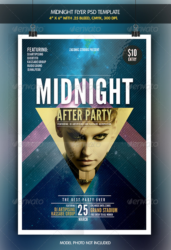 Midnight After Party | Flyer Template - Clubs & Parties Events