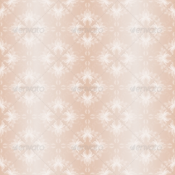 Damask Seamless Vintage Ornament - Backgrounds Decorative