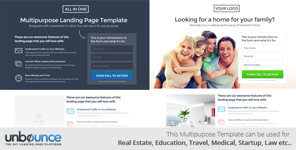 All In One Multipurpose Landing Page Template By Surjithctly