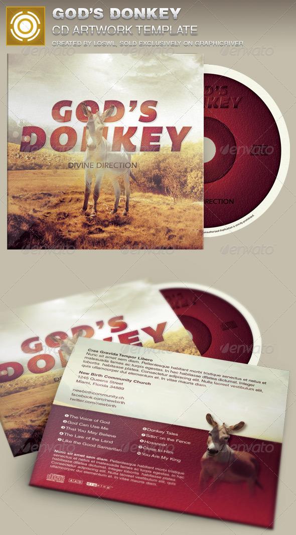God's Donkey CD Artwork Template - CD & DVD Artwork Print Templates