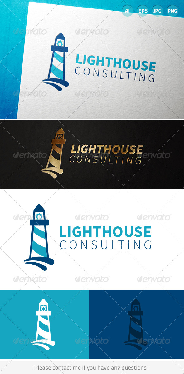 Lighthouse Consulting Logo - Buildings Logo Templates