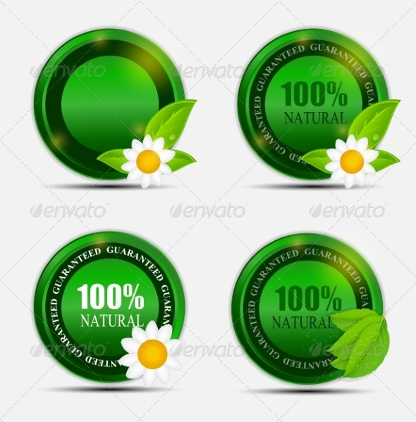 100% Natural Green Label Set - Web Technology