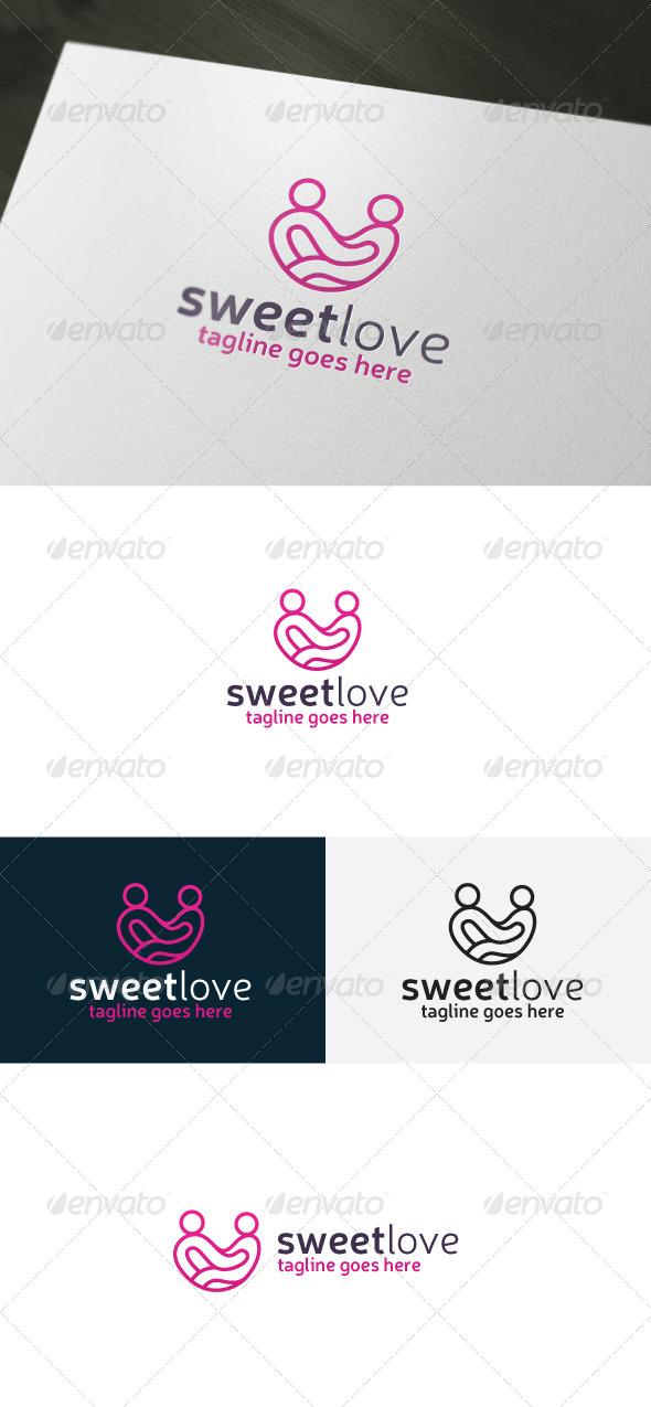 Sweet Love Logo - Humans Logo Templates