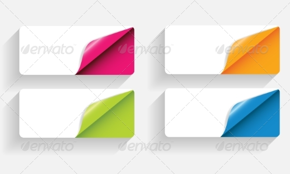Banners with Curled Corner - Web Technology