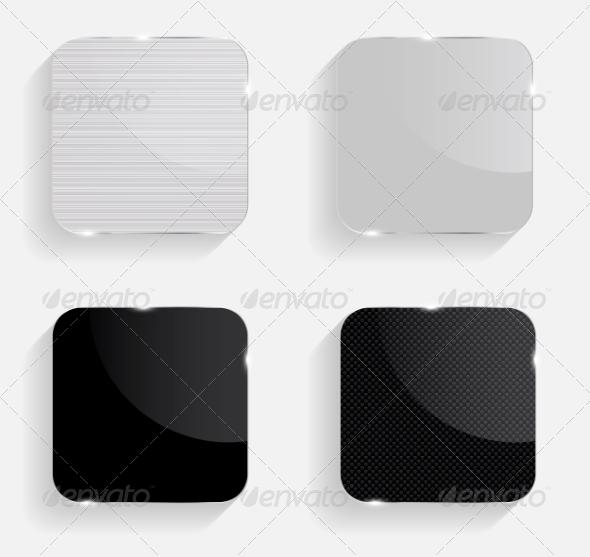 Set of Realistic Glass Frames. Vector Illustration - Web Technology