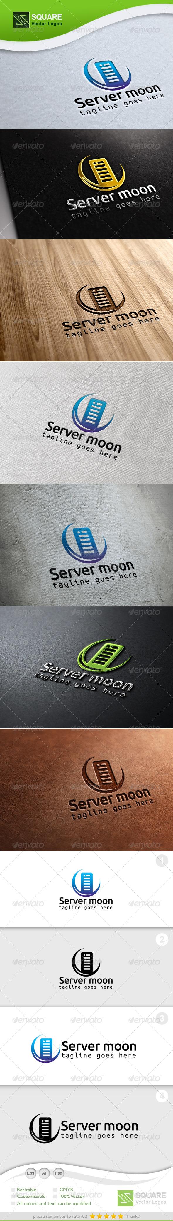 Server, Moon Vector Logo Template - Symbols Logo Templates