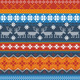 Traditional Norwegian Pattern with Reindeer - GraphicRiver Item for Sale