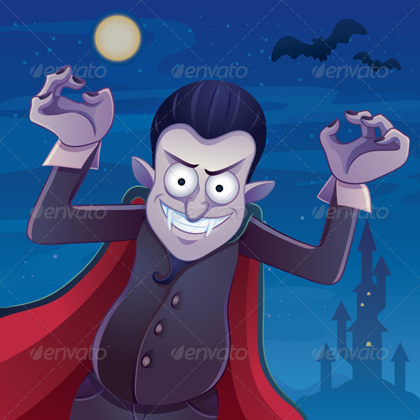 Dracula Cartoon - Characters Vectors