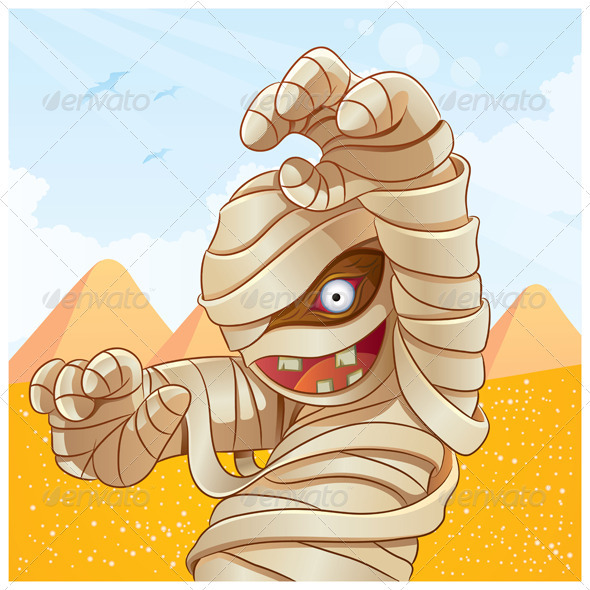 Mummy Cartoon - Characters Vectors