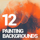 12 Painting/Watercolor Backgrounds - GraphicRiver Item for Sale