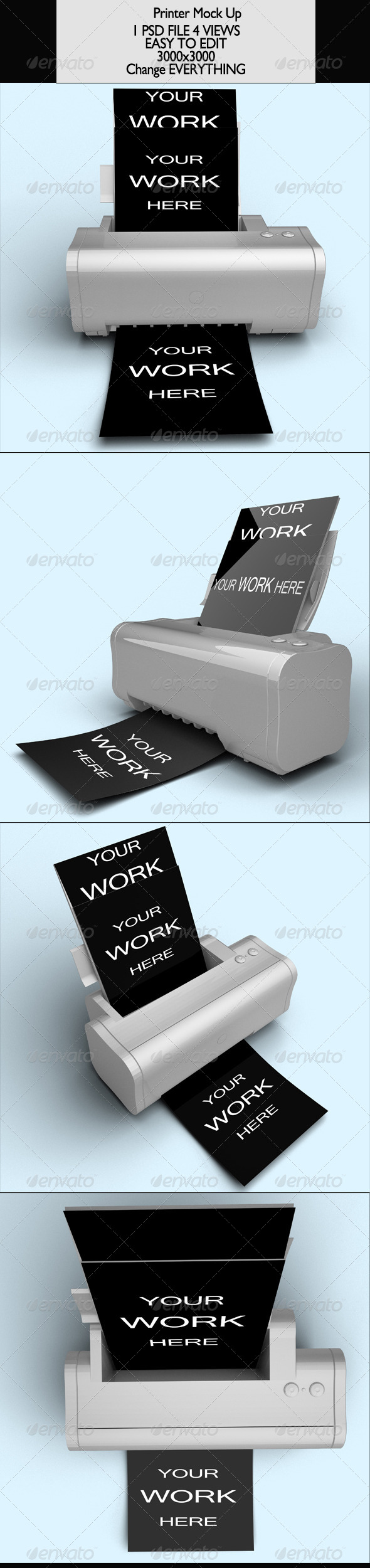 Printer Vol 1 Mock-Up - Product Mock-Ups Graphics