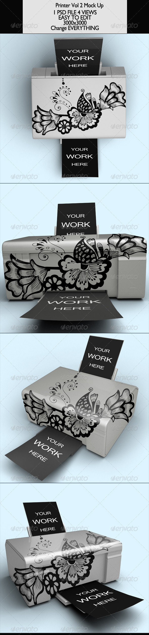 Printer Vol 2 Mock-Up - Product Mock-Ups Graphics