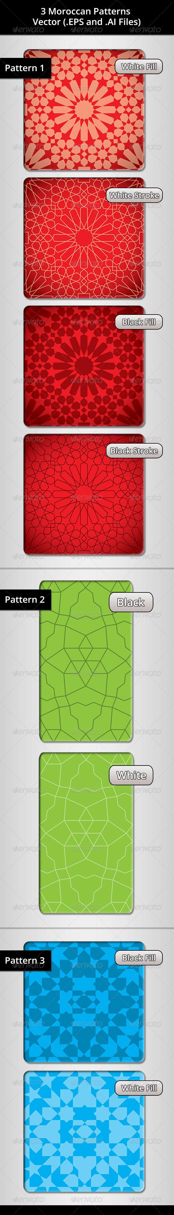 3 Moroccan Patterns Bundle - Patterns Decorative
