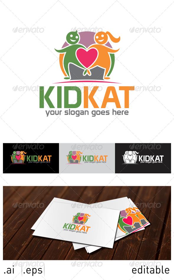 Kid Kat Logo Template - Humans Logo Templates