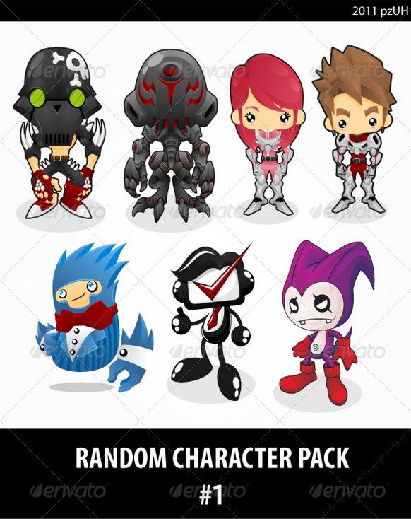 Random Character pack #1 - Characters Vectors