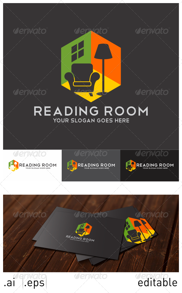 Reading Room Logo Template - Objects Logo Templates